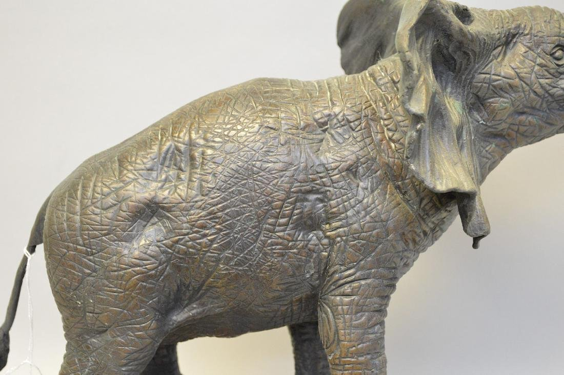 """Bronze standing elephant, after Barye, 17""""h x 15""""w - 6"""