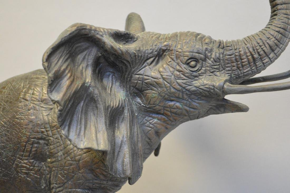 """Bronze standing elephant, after Barye, 17""""h x 15""""w - 7"""