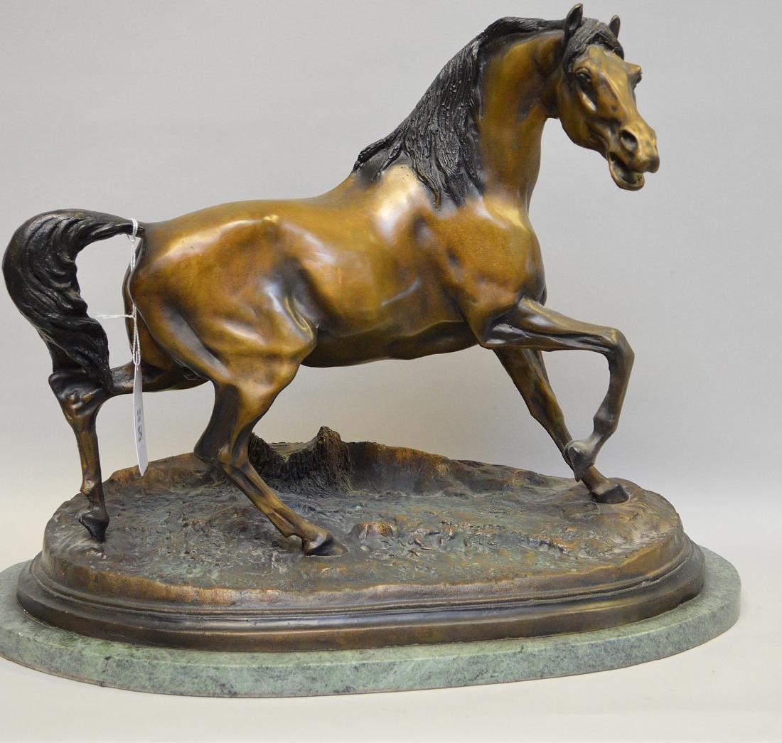 """Bronze horse, after P.J. Mene, 15""""h x 19""""w"""