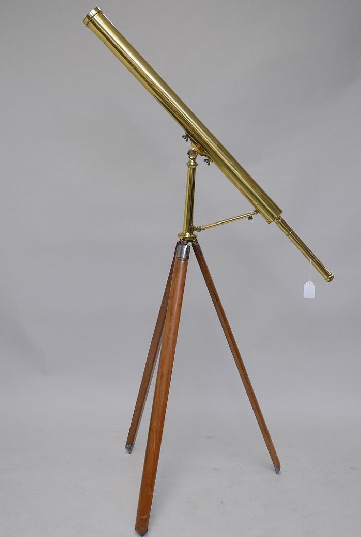 Signed 19th c. Scottish telescope on stand