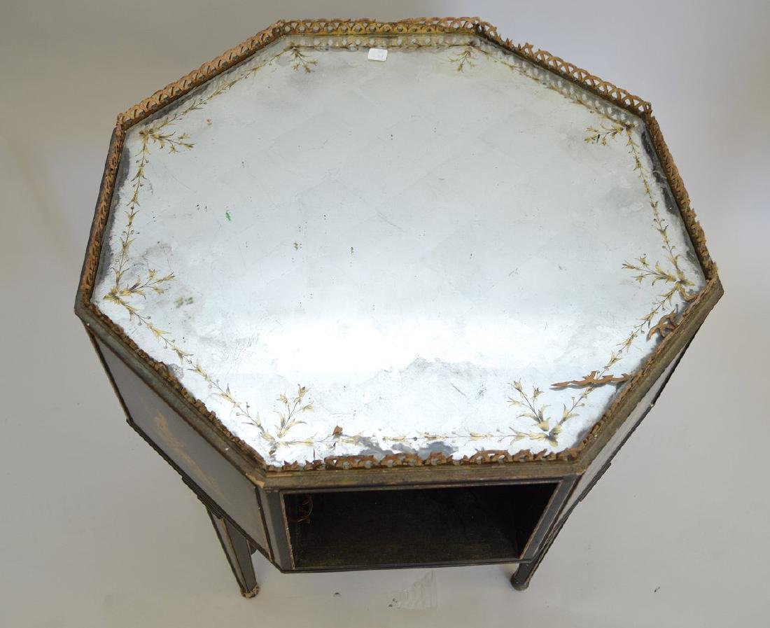 Octagonal occasional table with reticulated gallery, - 4