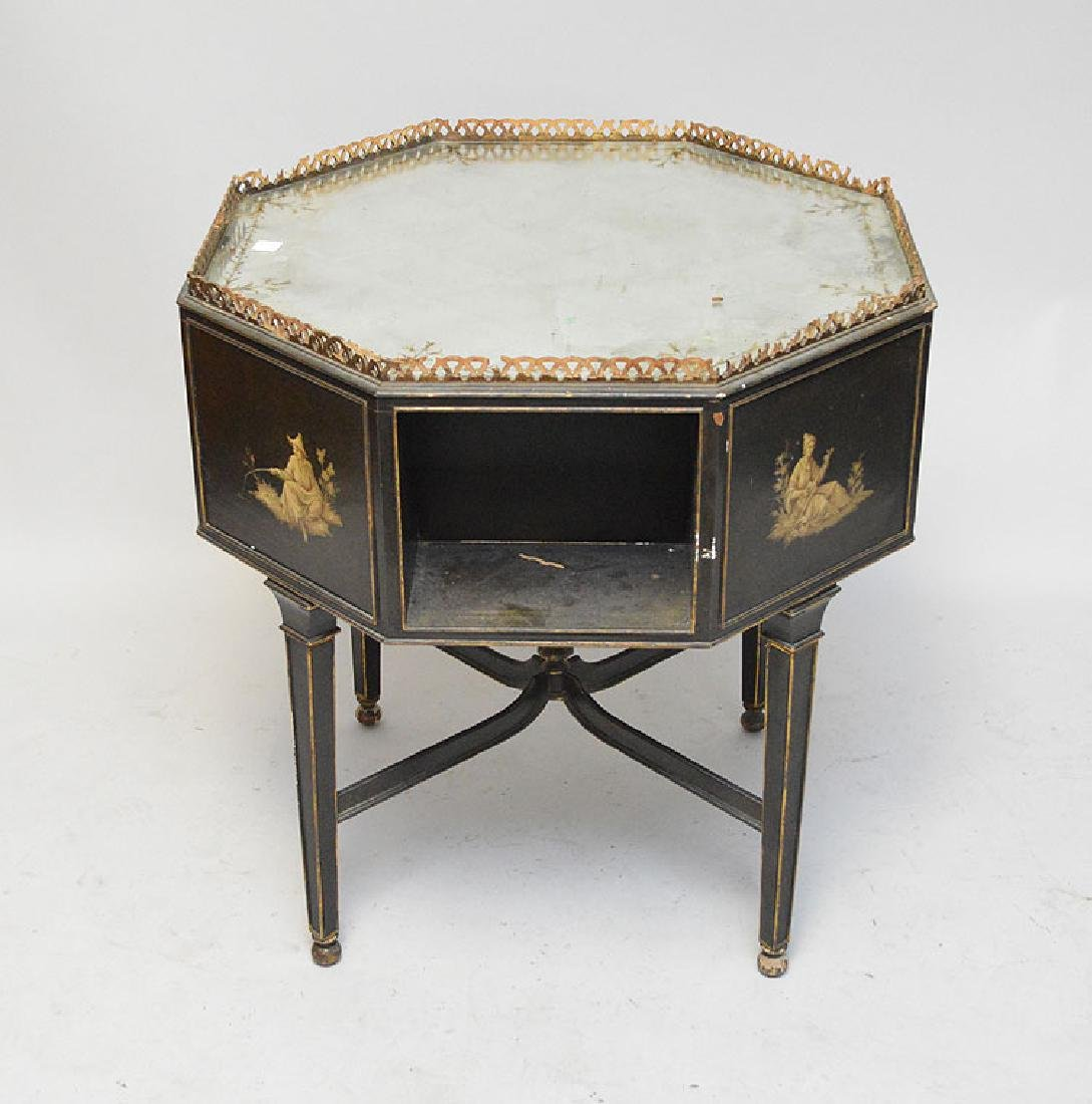 Octagonal occasional table with reticulated gallery, - 6