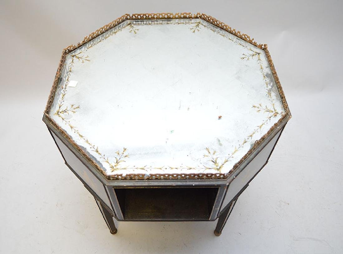 Octagonal occasional table with reticulated gallery, - 8