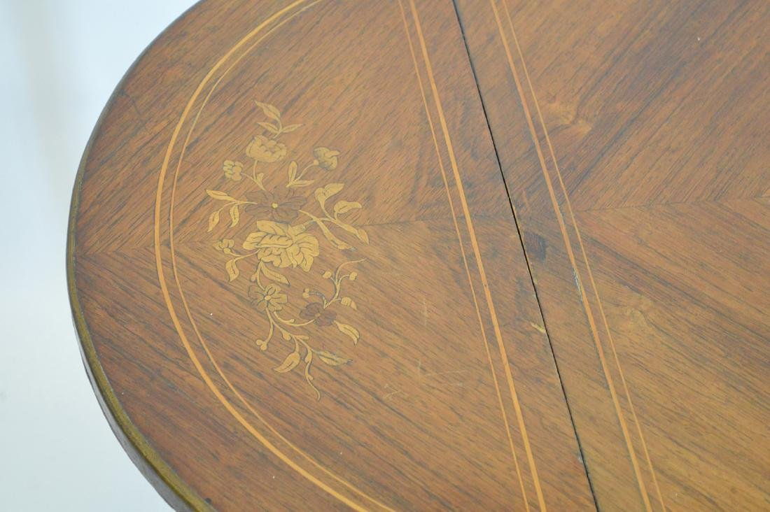 Mahogany marquetry occasional/sofa table with hinged - 2