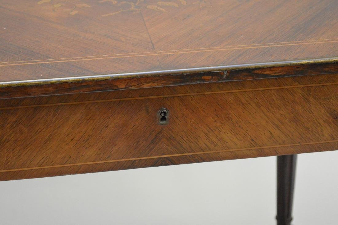 Mahogany marquetry occasional/sofa table with hinged - 7