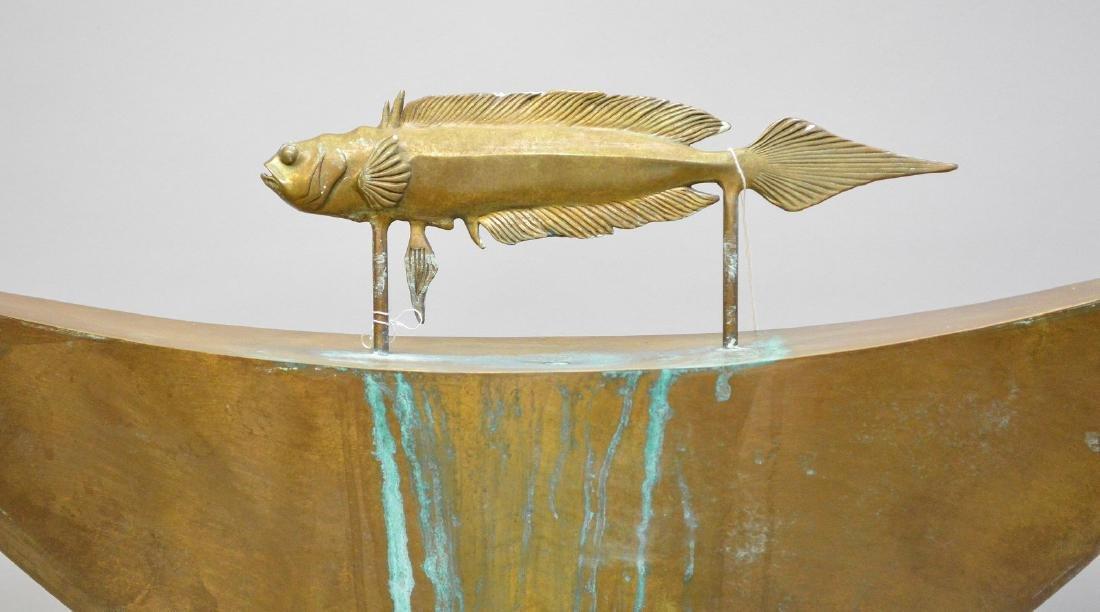 """Mid Century bronze fountain, by Pozycinski, 27 1/2"""" x - 2"""