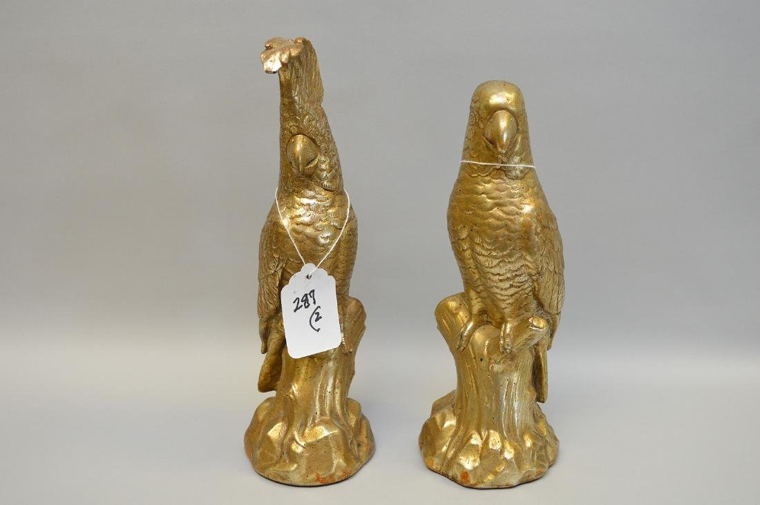 """Pair of signed Borghese figures of parrots, 12 1/4""""h - 2"""