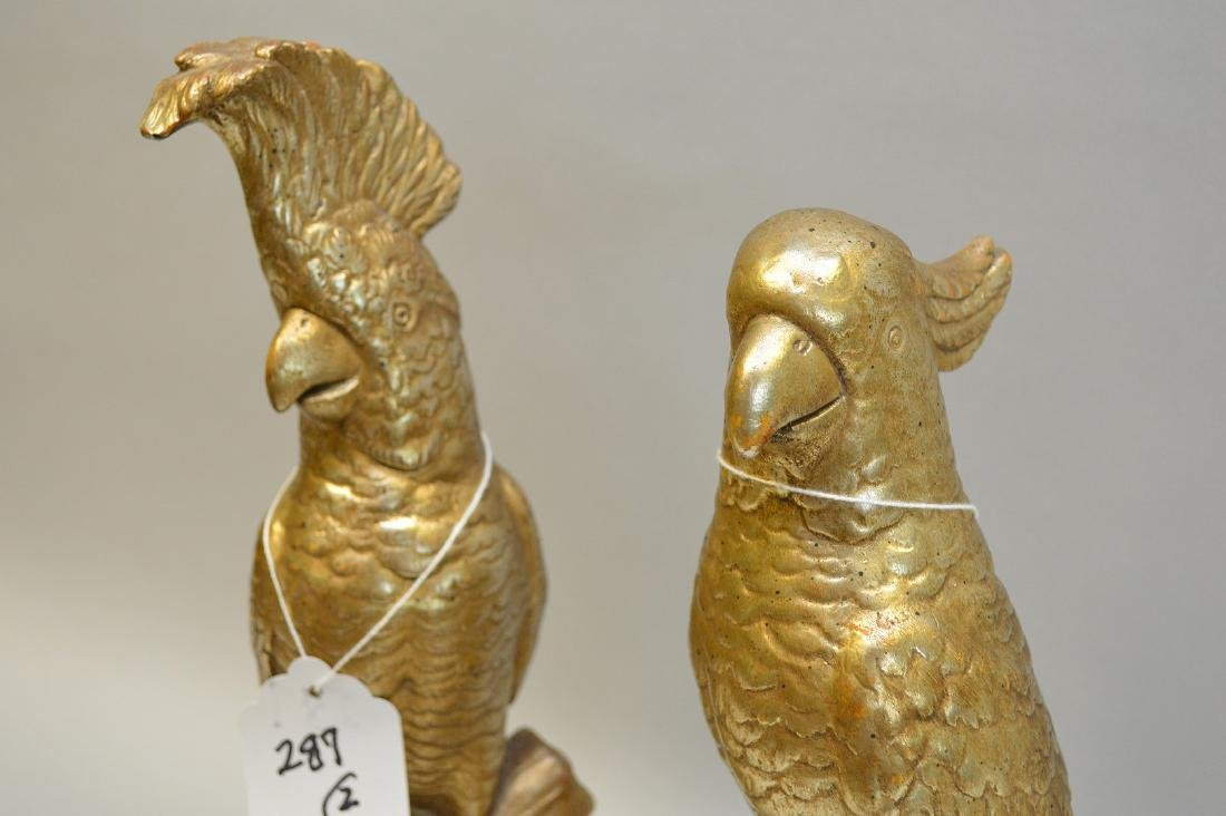 """Pair of signed Borghese figures of parrots, 12 1/4""""h - 3"""