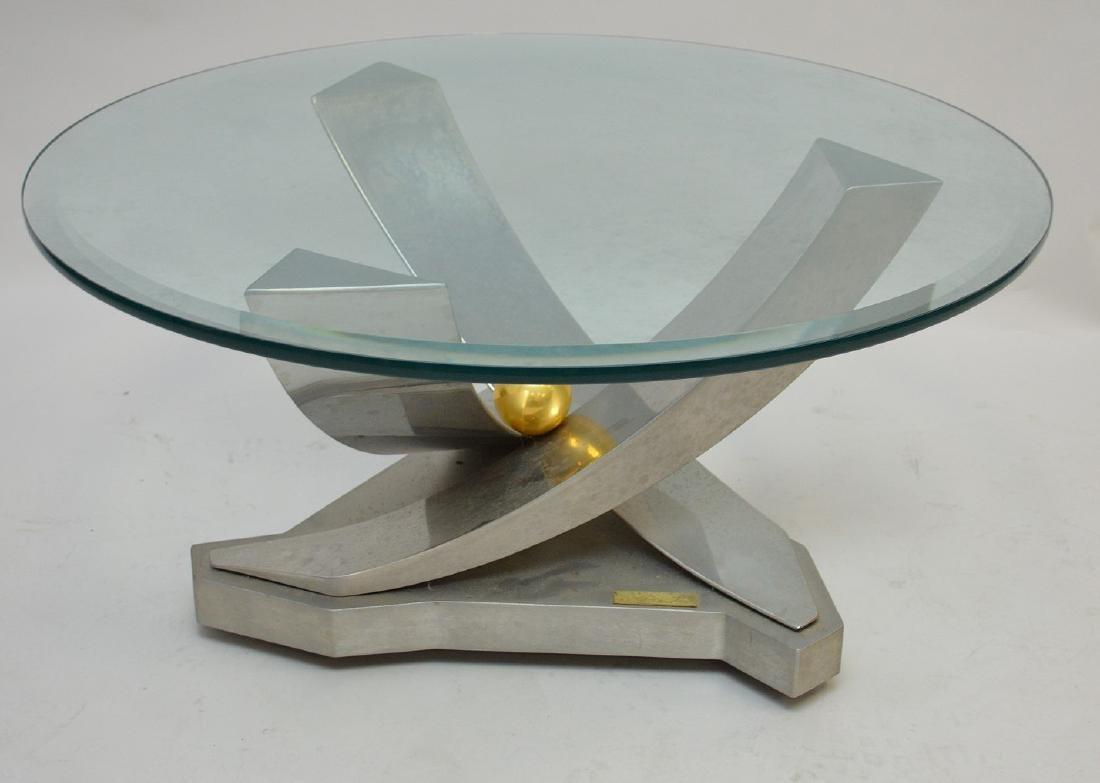 Greg Sheres Modern Chrome & Steel coffee Table  Table