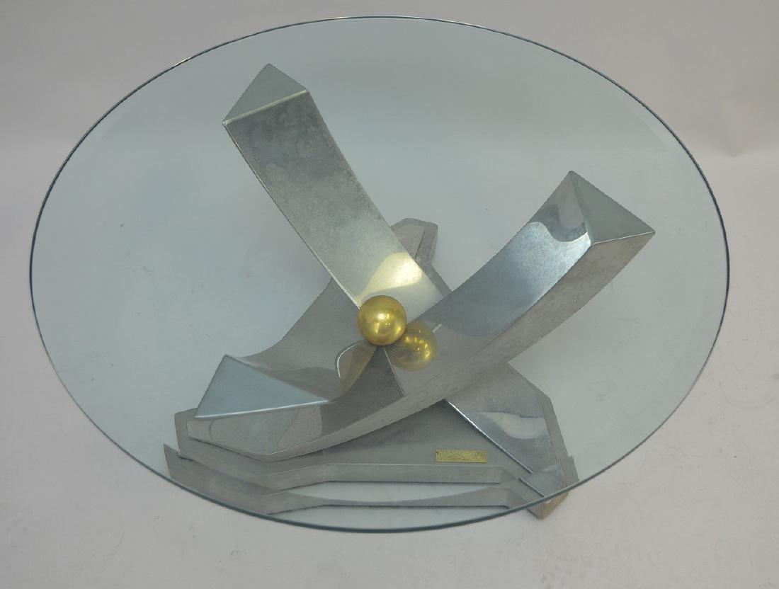Greg Sheres Modern Chrome & Steel coffee Table  Table - 2