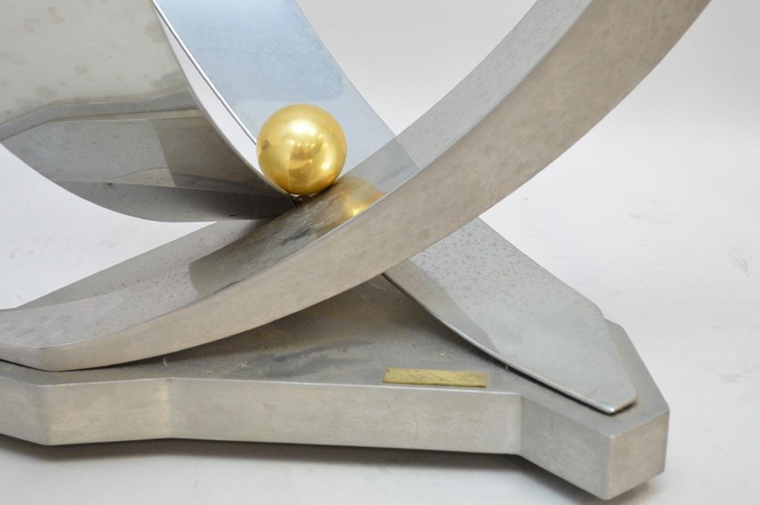 Greg Sheres Modern Chrome & Steel coffee Table  Table - 4