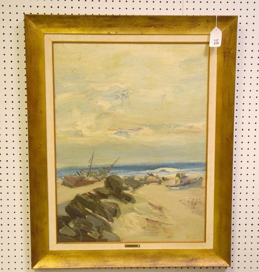 Hugo Nantes (URUGUAYAN, 1933) o/b shoreline beach
