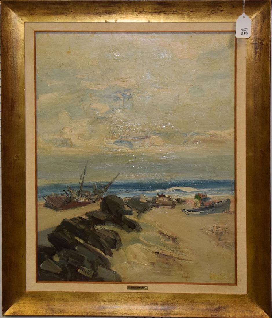 Hugo Nantes (URUGUAYAN, 1933) o/b shoreline beach - 2