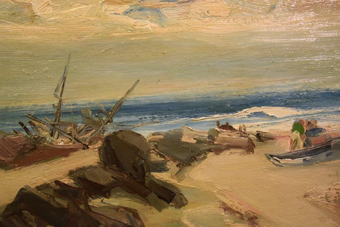 Hugo Nantes (URUGUAYAN, 1933) o/b shoreline beach - 4