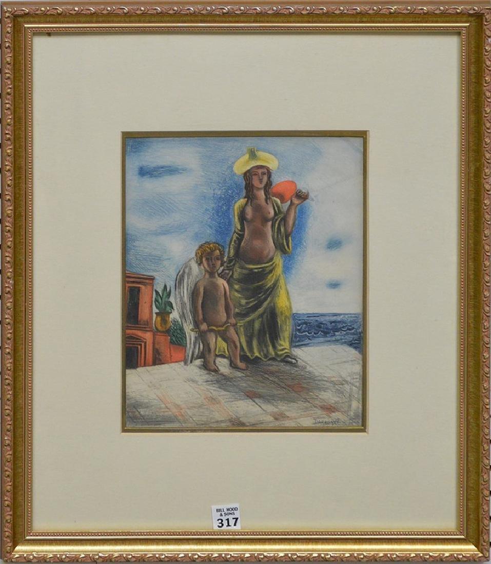 Jean Gabriel Daragnes  (1886 - 1950) pencil signed