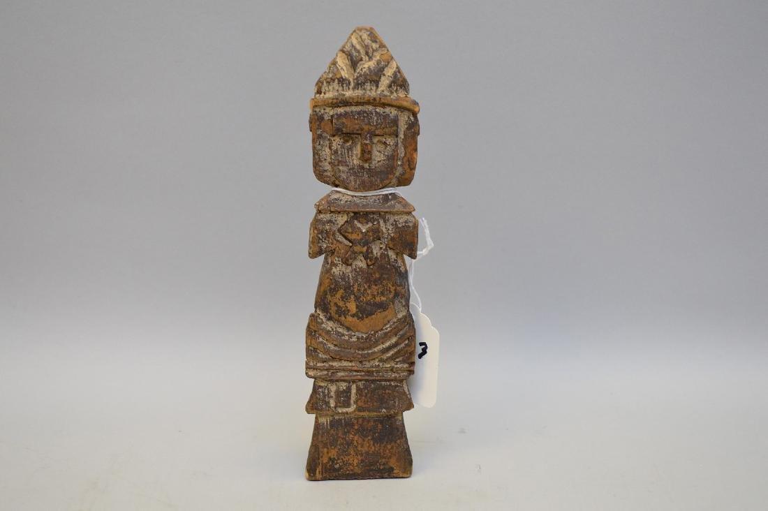 Rare Antique Russian Slavic Carving. A wooden Triglav