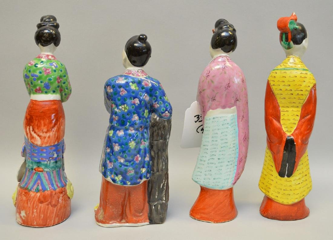 """Lot of 4 Chinese figures of Dignitaries, 9 1/2""""h - 2"""
