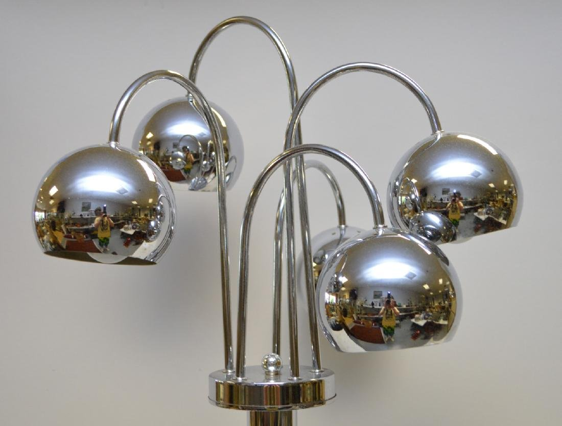 Cylindrical chrome lamp with 5 adjustable sphere shape - 2