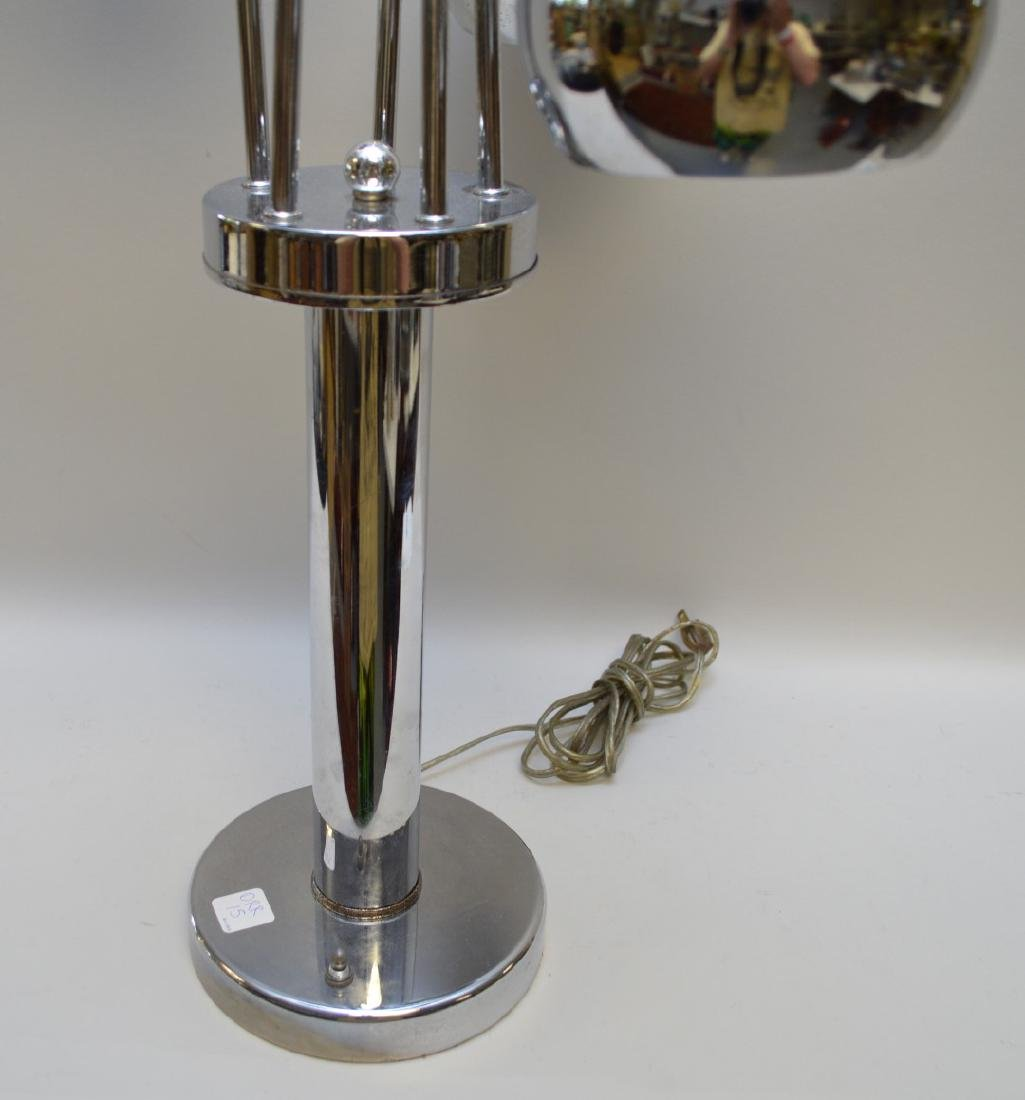 Cylindrical chrome lamp with 5 adjustable sphere shape - 3