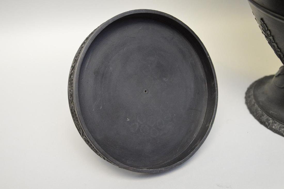 """Large Wedgwood black Basalt covered urn, 21""""h - 10"""