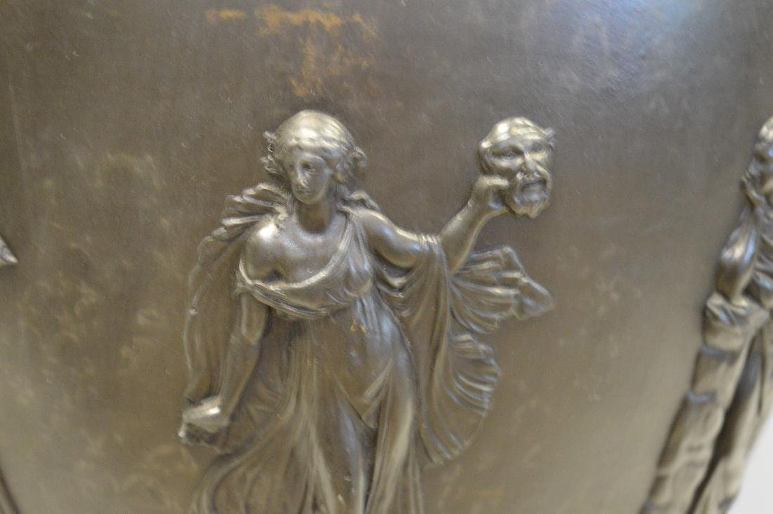"""Large Wedgwood black Basalt covered urn, 21""""h - 11"""