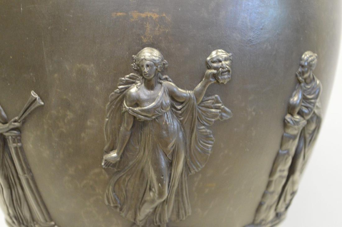 """Large Wedgwood black Basalt covered urn, 21""""h - 12"""