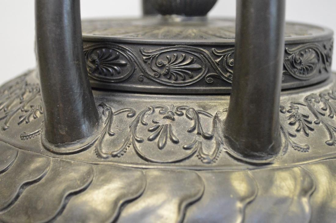 """Large Wedgwood black Basalt covered urn, 21""""h - 5"""