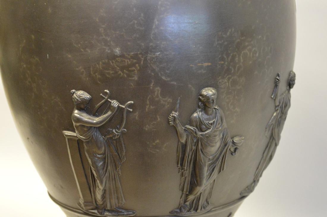 """Large Wedgwood black Basalt covered urn, 21""""h - 7"""