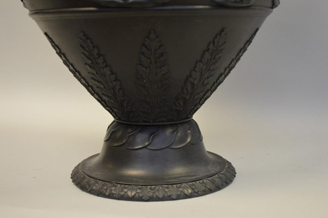"""Large Wedgwood black Basalt covered urn, 21""""h - 8"""