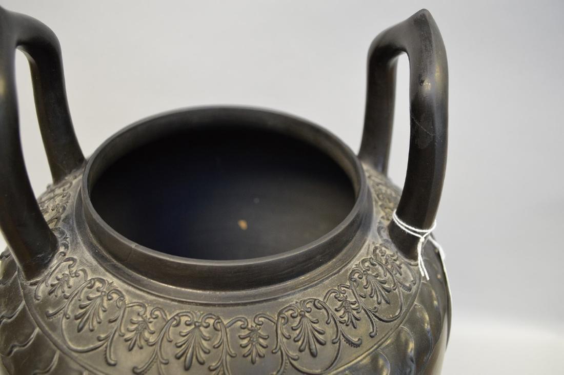 """Large Wedgwood black Basalt covered urn, 21""""h - 9"""