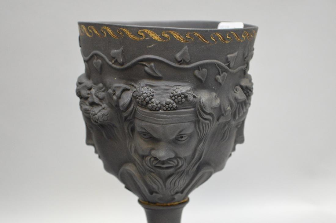 3 Wedgwood black Basalt pieces, centerpiece bowl, - 2