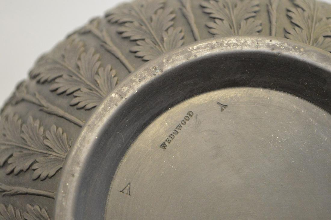 3 Wedgwood black Basalt pieces, centerpiece bowl, - 4