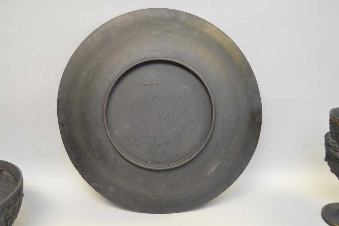 3 Wedgwood black Basalt pieces, centerpiece bowl, - 5