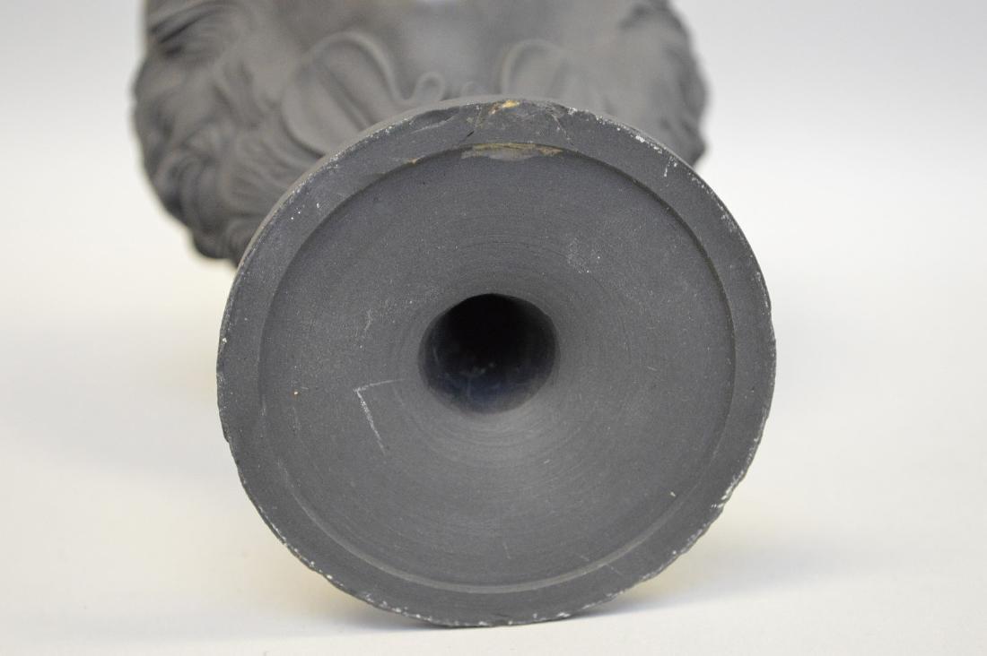3 Wedgwood black Basalt pieces, centerpiece bowl, - 7