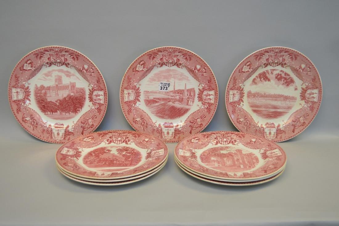 "9 Wedgwood dinner plates, ""Etruria"", 10 1/2""dia"