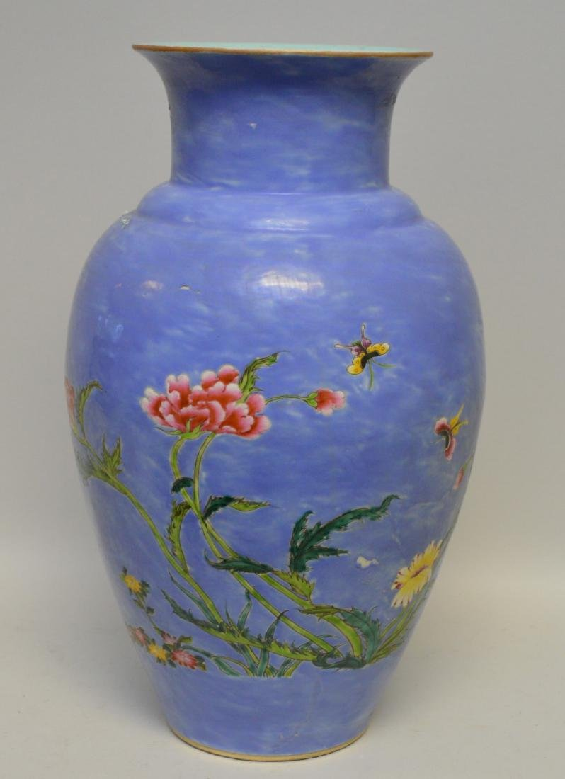 Ceramic vase with Asian floral motif