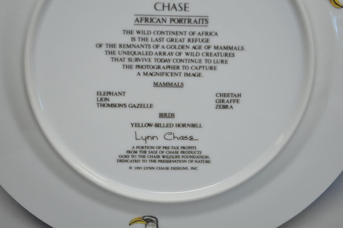 "8 African animal plates, Lynn Chase, 9 1/2""dia - 7"