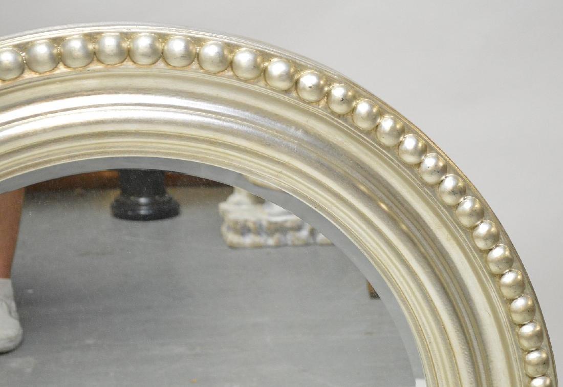 "Silver framed round mirror, 42""dia - 2"