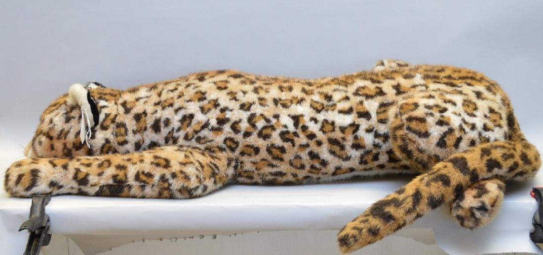 """Vintage Steiff leopard with original button, 61""""L"""