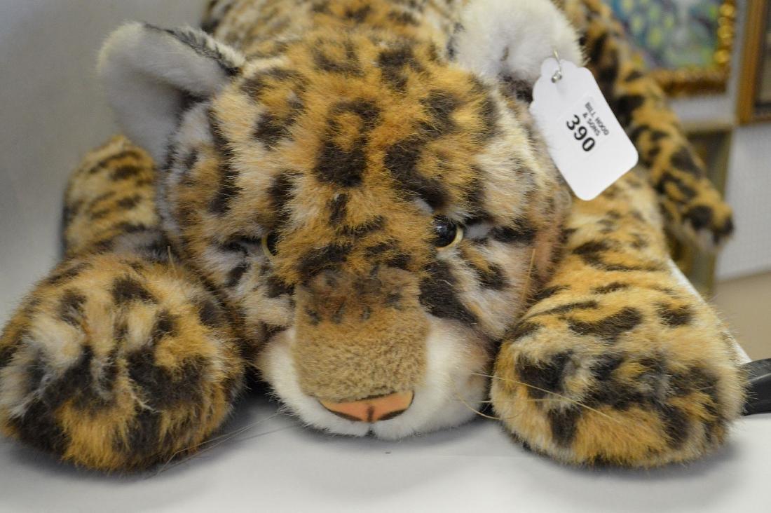 """Vintage Steiff leopard with original button, 61""""L - 4"""