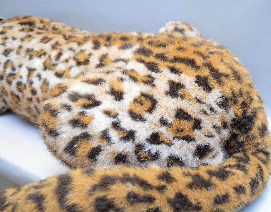 """Vintage Steiff leopard with original button, 61""""L - 5"""