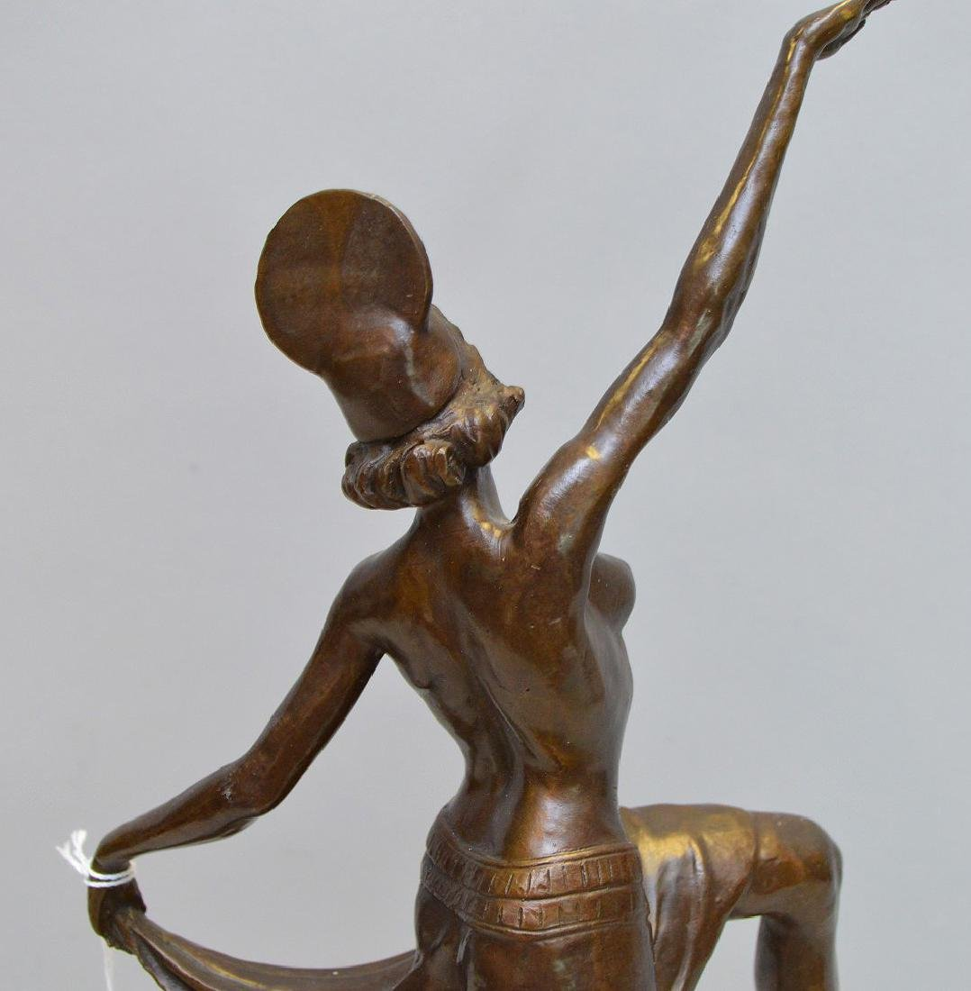 Bronze Deco Dancer indistinctly signed on a square - 3