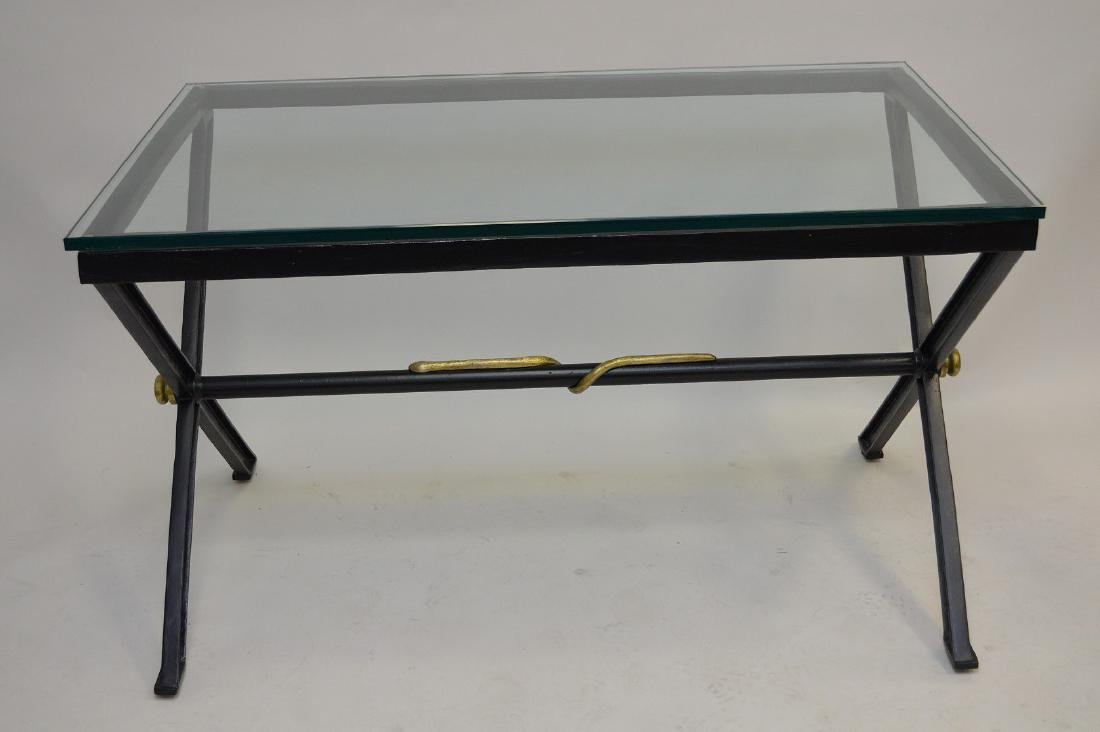 After Giacometti , Heavy Iron/steel table painted