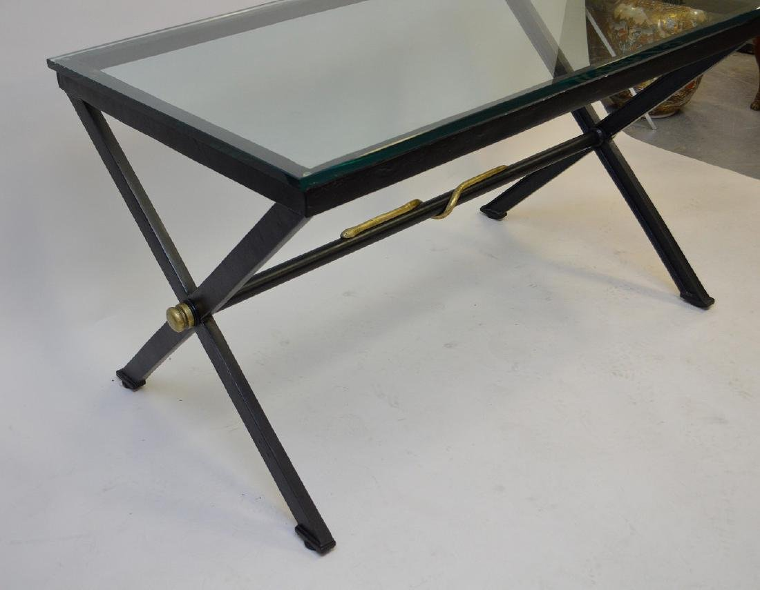 After Giacometti , Heavy Iron/steel table painted - 2