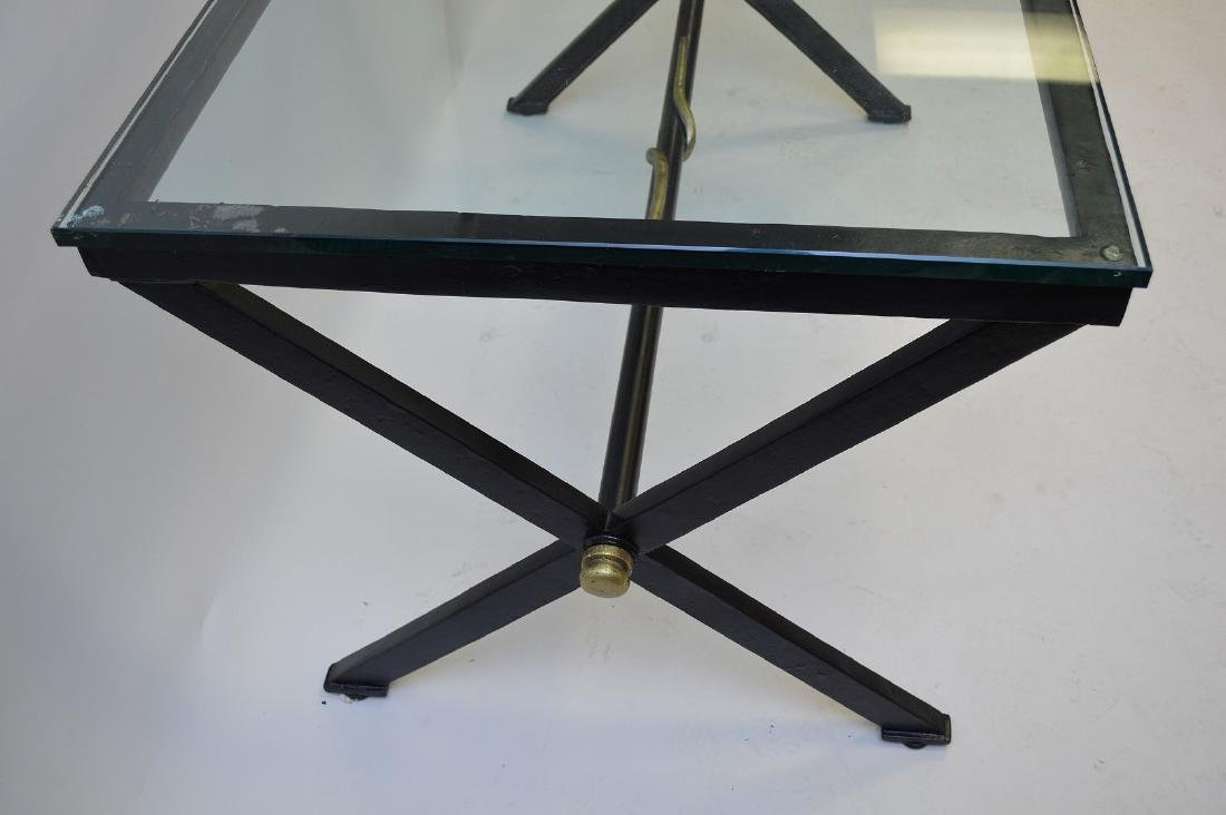 After Giacometti , Heavy Iron/steel table painted - 4