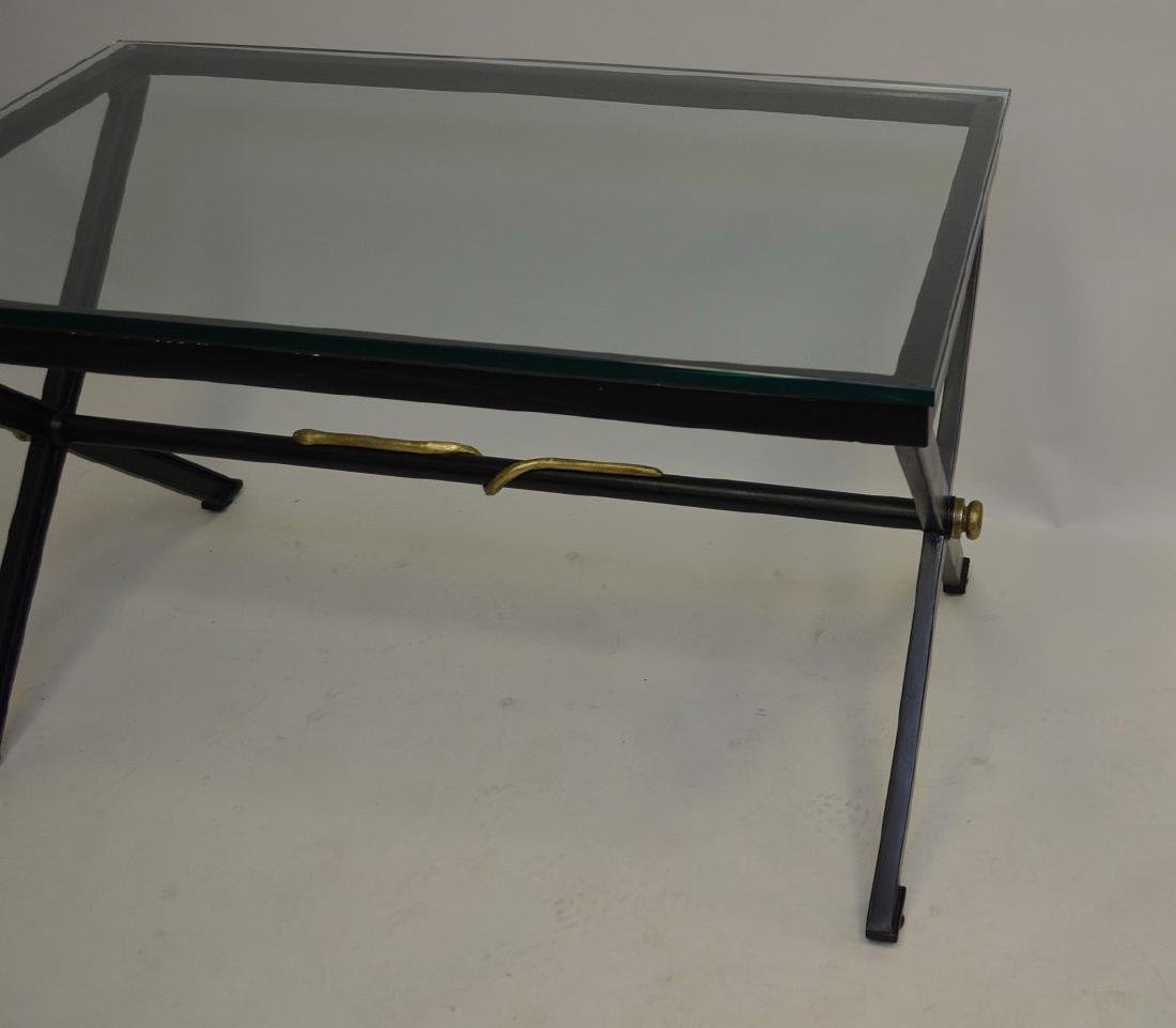 After Giacometti , Heavy Iron/steel table painted - 5