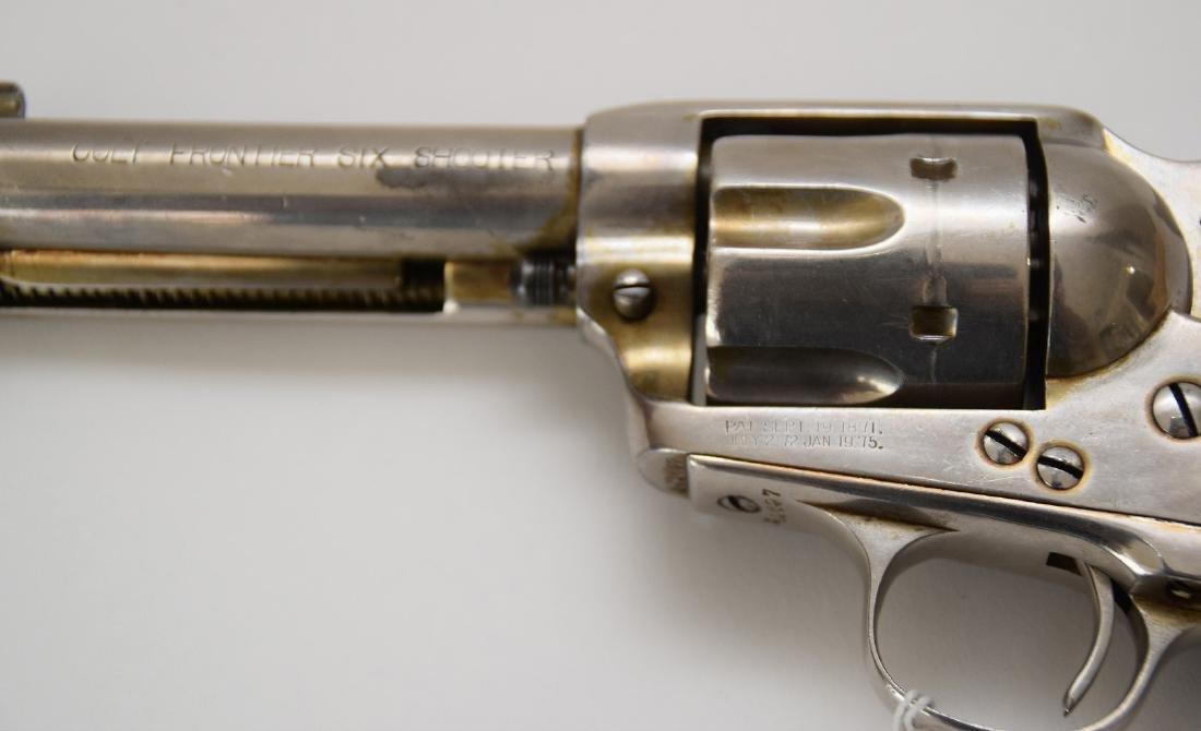 Colt 6-Shooter, Frontier Model, Nickel Receiver, Walnut - 3