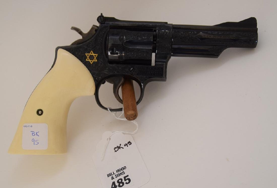 Smith & Wesson 357 Caliber Magnum with Gold inlaid Star
