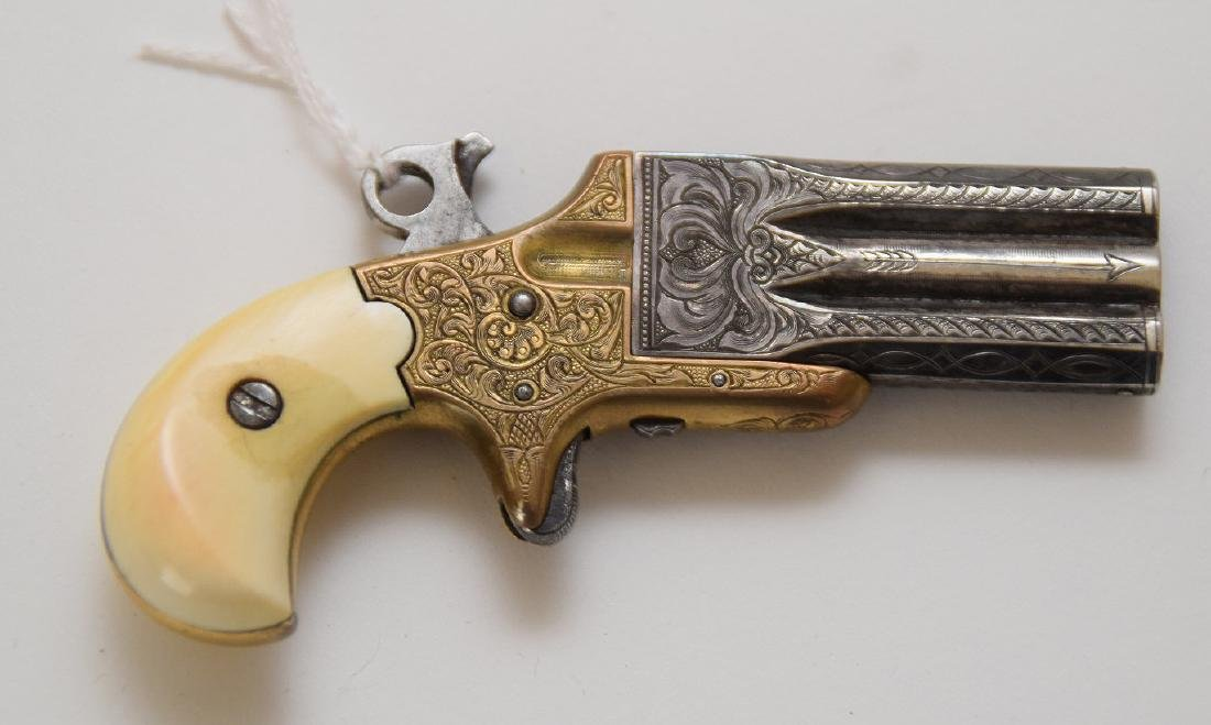 Frank Wesson engraved parlor pistol
