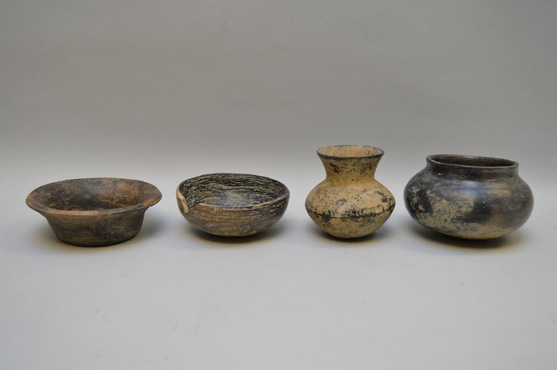 Four Pre-Columbian Black Ware Pottery Vessels -